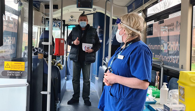 Bus Launched as One of UK's First Covid-19 Mobile Vaccination Units